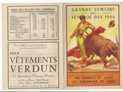 DAX : GRANDE SEMAINE DES FETES 1954 - Programmi
