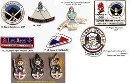 1 Pin's Au Choix_Gendarmerie_JO_Alberville_92_Savoie - Army