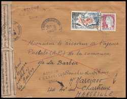 4254 Lettre Cover Bouches Du Rhone Retour à L'envoyeur 2805 Pélissanne 1965 Decaris - Marcofilie (Brieven)