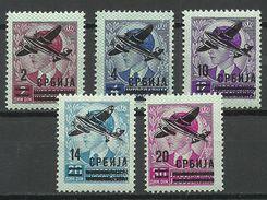 Serbia Serbien 1941 German Occupation Michel 66 - 70 * - Occupation 1938-45