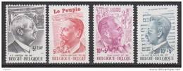 Belgique N° 1877 - 1880 *** Personnalités - A.E. JANSSEN - J. WAUTERS - J. CAPART - J.M. AUG. DE BOECK - 1977 - Neufs