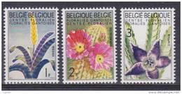 Belgique N° 1318-1319-1320 *** Floralies Gantoises III - Vriesa - Echinocactus - Stapelia - 1965 - Belgique