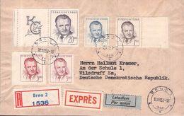 CZECHOSLOVAKIA - RECO/EXPRÉS 1951 BRNO -> WILSDRUF/GDR - Briefe U. Dokumente