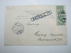 1903 , FRA DANMARK , Stempel Auf Karte Mit Dänemark-Marken Und Stempel MALMÖ - Briefe U. Dokumente