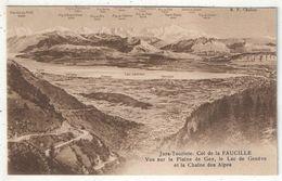01 - Col De La FAUCILLE - Vue Sur La Plaine De Gex, Le Lac De Genève Et La Chaîne Des Alpes - Gex