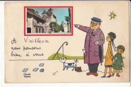 France 15 - A Vieillevie Nous Pensons Bien à Vous - Achat Immédiat - Other Municipalities