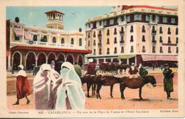 Maroc. Casablanca. Un Coin De La Place De France Et L'hotel Excelsior - Casablanca