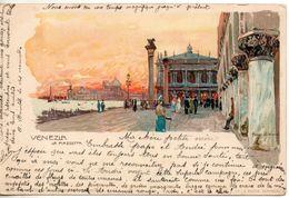 Italie. Venezia. La Piazzetta. Carte Illustrée - Venezia (Venice)