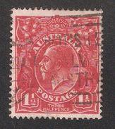 Australia 1924 KGV,1 1/2p,Wmk 9,Sc 26,Fine Used - 1913-36 George V: Heads