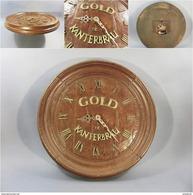 ~ PENDULE MURALE PUBLICITAIRE DE BISTROT TONNEAU BIERE KANTERBRAU # Horloge Heure Horloger Publicité Bar - Enseignes