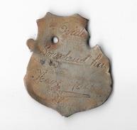 """Très Anciennes Plaque Fiscale De Velo  """" NEUVE-MAISON """" (02-Aisne) Mr Ovide  Dourdaud'Hui - Number Plates"""