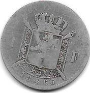*belguim 1 Franc  Leopold II  1866 French - 1865-1909: Leopold II