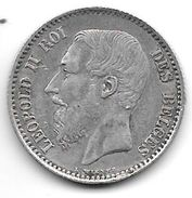 *belguim 1 Franc  Leopold II  1869 French  Vf+ !!!! - 07. 1 Franc