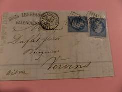 16.12.17-LAC ,  De Valenciennes,variétés Sur N°22, - Postmark Collection (Covers)