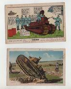 """Char Au Camp De Carpiagne Et Char """"Théorie"""" Humour - 1939-45"""