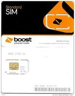 """AUSTRALIA GSM MOBILE """"BOOST""""  COMPANY BLACK-BROWN BIG SQUARE CHIP READ DESCRIPTION !!! - Australia"""