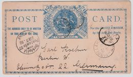 NSW , 1892, Jubilee  Stationary Card  , 2 Pence  - To Germany  !! , #9035 - Covers & Documents