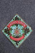 Etiquette CASSIS SURFIN - BENOIT SERRES à VALENCE D'AGEN, Liqueur Digestive. - Altri
