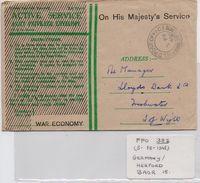 Field Post Office 382, Dated February 1948, BAOR 15 (Herford, Germany) - 1902-1951 (Kings)