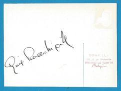 (A818) - Signature / Dédicace / Autographe Original - Gina LOLLOBRIGIDA - Actrice - Autographes