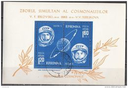 C144 Romania 1963 Space Vostok Cosmonauti : Valentina Tereshkova E Valeri Bykovski Sheet Perf. - FDC & Commemoratives