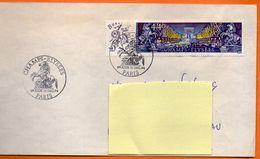 MAURY N° 2910  CHAMPS ELYSEES  PARIS 1994 Lettre Entière110x220 N° HH 84 - Marcophilie (Lettres)