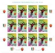 007 - ITALIA REPUBBLICA 2001 FOGLIETTO CALCIO USATO PRIMO GIORNO DI EMISSIONE - 2001-10: Oblitérés