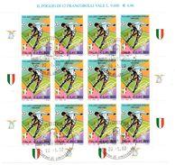 008 - ITALIA REPUBBLICA 2000 FOGLIETTO CALCIO USATO PRIMO GIORNO DI EMISSIONE - 1991-00: Oblitérés