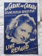 LINE RENAUD Ma Cabane Au Canada - Song Books