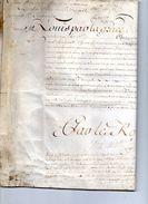 Commission De Lieutenant De Roy Du Berry (par Le Roy) - Documents Historiques