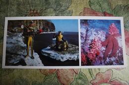RUSSIA. OKHOTSKOYE SEA. Vladivostok Bay. DIVER  - Old Postcard - 1981 Scuba Set - Métiers
