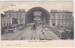 Torino - Facciata Interna Della Stazione Con Treni      (A-62-160806) - Stazione Porta Nuova
