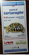 "TURTLE TORTOISE TORTUE TARTARUGA TORTUGA 2006 ITALIAN SHOW ""TARTARUGHE BEACH"" ADVERTISEMENT - Aquariophilie"