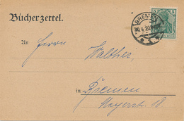 BREMEN - 1920 , Bücherzettel - Germania