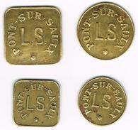 Nécessité - (55) - ROBERT-ESPAGNE - Lot De 4 Jetons Inédits - Monétaires / De Nécessité