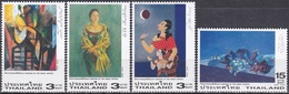 Thailand Siam 2003 Kunst Kultur Gemälde Paintings Künstler Maler Mondschein Lotosblüten, Mi. 2172-5 ** - Thailand