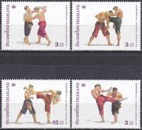 Thailand Siam 2003 Sport Spiele Kampfsport Thai-Boxen Kultur Kulturerbe Tradition Brauchtum, Mi. 2182-5 ** - Thailand