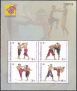 Thailand Siam 2003 Sport Spiele Kampfsport Thai-Boxen Kultur Kulturerbe Tradition Brauchtum CHINA Mianyang, Bl. 168 I ** - Thailand