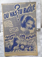 LINE RENAUD _ OU VAS TU BASILE - Song Books