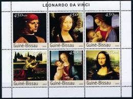 [402385]Guinée-Bissau 2003 - Leonardo Da Vinci, Tableau - Peinture - Art - Art