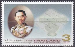 Thailand Siam 2003 Geschichte Persönlichkeiten Königshaus Royals Prajadhipok Rama VII. Politik Demokratie, Mi. 2189 ** - Thailand