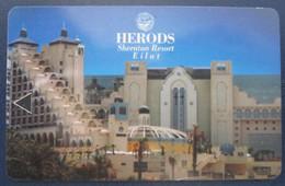 MISC HOTEL MOTEL INN PENSION MOTOR HOUSE RESIDENCE HERODS KING SHERATON JERUSALEM TIBERIAS EILAT KEY CARD ISRAEL - Etiketten Van Hotels