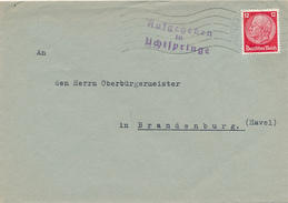 Aufgegeben In Uchtspringe - Nach Brandenburg , Landpoststempel , Postnebenstempel - Germany