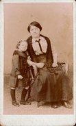 CDV Originale Portrait De Femmes - Marie Corbin & Solange Duteurtre En 1915/16 - Garçonne à La Cravate & Fillette - Personnes Identifiées