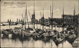 Cp Köln Am Rhein, Rheinpartie, Bootsanlegestelle, Segelboote, Dampfer - Allemagne