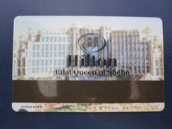 HOTEL MOTEL QUEEN OF SHEBA INN HILTON TEL AVIV TIBERIAS DEAD SEA HAIFA JERUSALEM TIBERIAS EILAT KEY TOWEL CARD ISRAEL - Hotel Labels