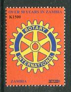 Zambia 2008 Surcharge - 1500k On 1200k Rotary International MNH (SG 1055) - Zambie (1965-...)