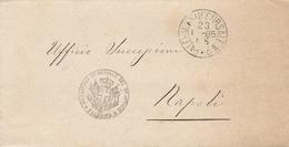 Palermo. 1885. Annullo Grande Cerchio PALERMO SUCCURSALE N.2 + RICEVITORIA DEMANIALE, Su Lettera In Franchigia - Marcofilie