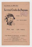 Partition Le Vrai Credo Du Paysan Les Chansons De Marc-Hély Aux Deux-ânes - Song Books