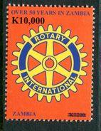 Zambia 2010 Surcharges - 10,000k On 1200k Rotary International MNH (SG 1066) - Zambie (1965-...)